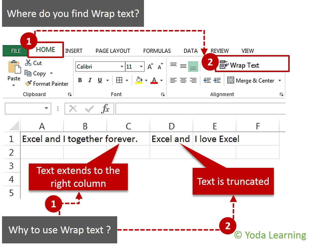 How To Do Wrap Text In Excel