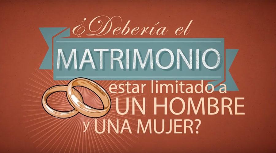 [VIDEO] ¿Debería el matrimonio estar limitado a hombre y mujer? Sí