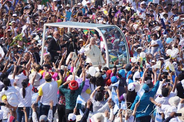 El Papa Francisco en Huanchaco, Trujillo, Perú