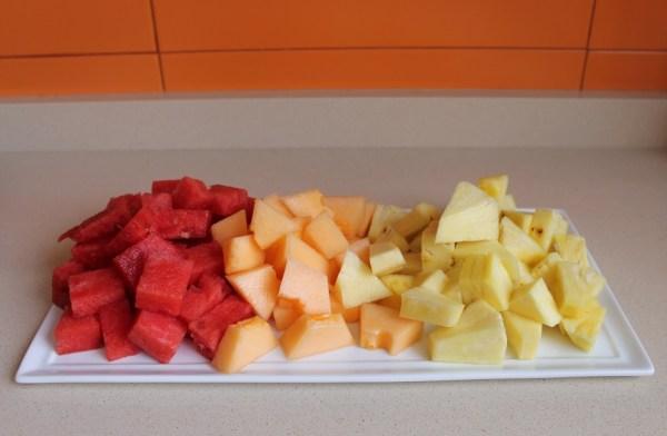 piña melón sandía
