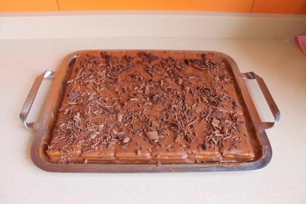 tarta de chocolate con galletas