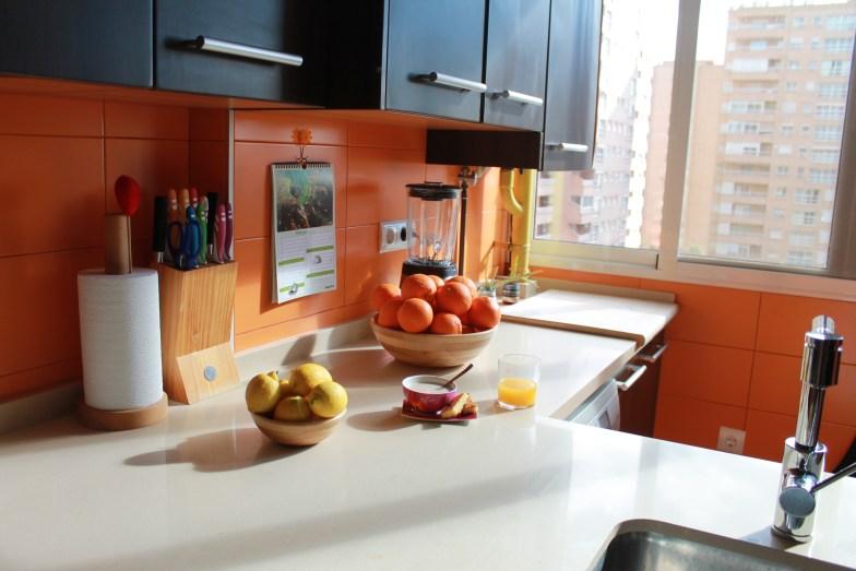 cocina con frutas: naranjas y limones