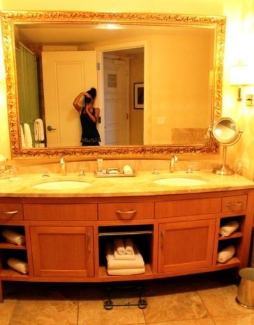 baño lavabo trump