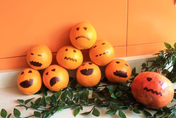naranjas granadas halloween