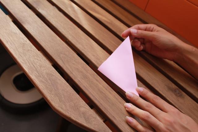 doblar el triángulo