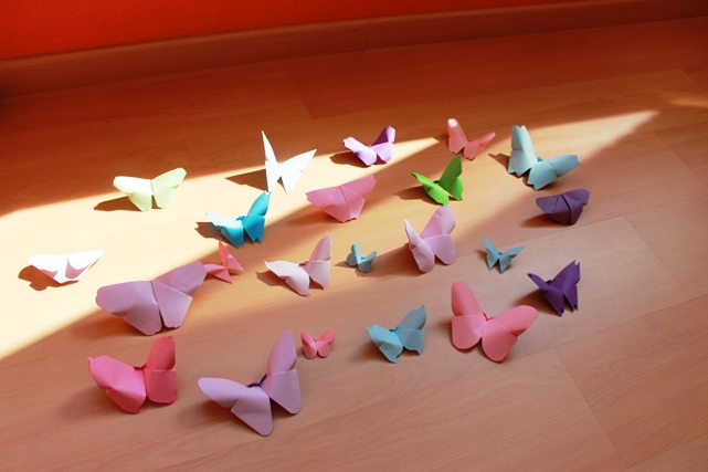 Mariposas de papel para decorar
