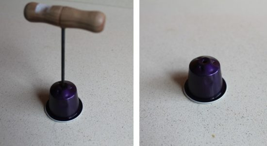 agujero capsula