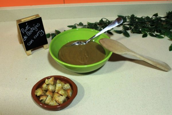 Puré de lentejas al curry - Platos de invierno (II)
