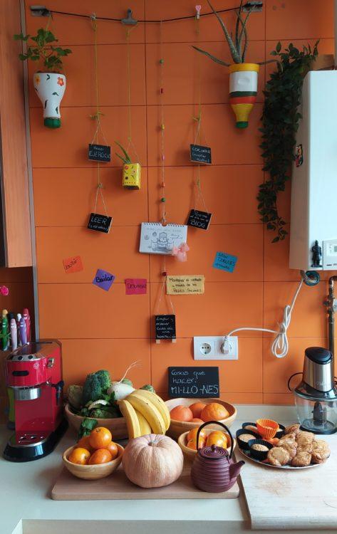 Rincón de la cocina decorado