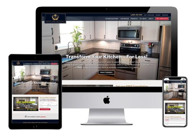 Revelare website homepage
