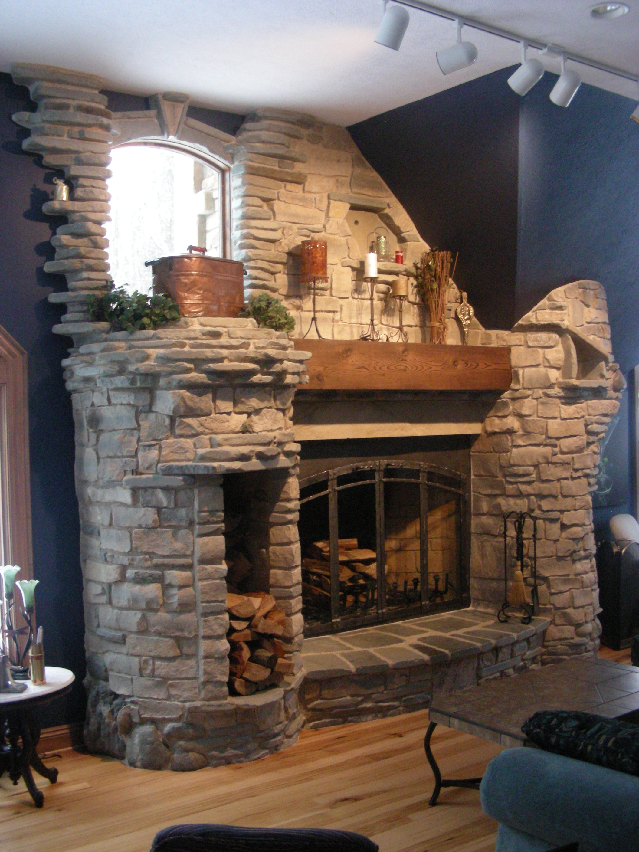6 Foot Rumford Fireplace Natural Stone