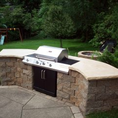 Outdoor Kitchen Bbq Sink Water Filter Custom Built In Barbecue Perfect Home And Garden Design