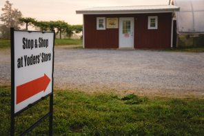 Shop at the Yoders' Farm store - and Rosie's Cozy Kitchen will be set up right beside the store today...