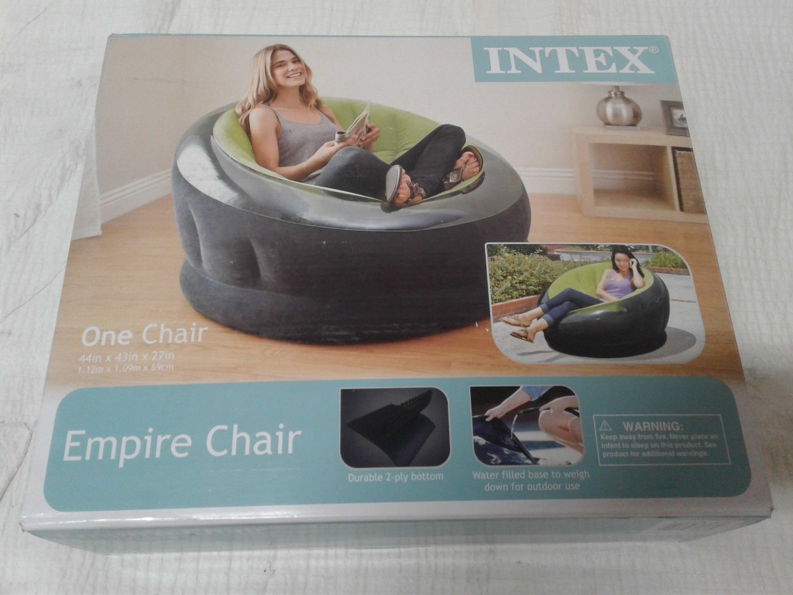 intex air chair swing urban ladder inflatable  lime green yoder tools