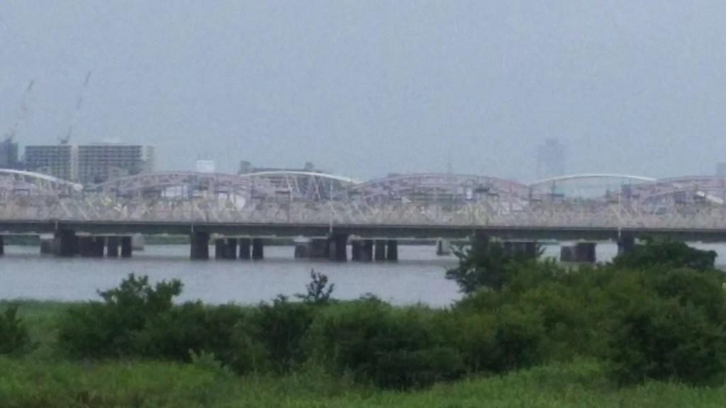 2018年7月7日 淀川 十三大橋付近の様子