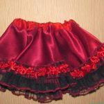 falda con volante para disfraces
