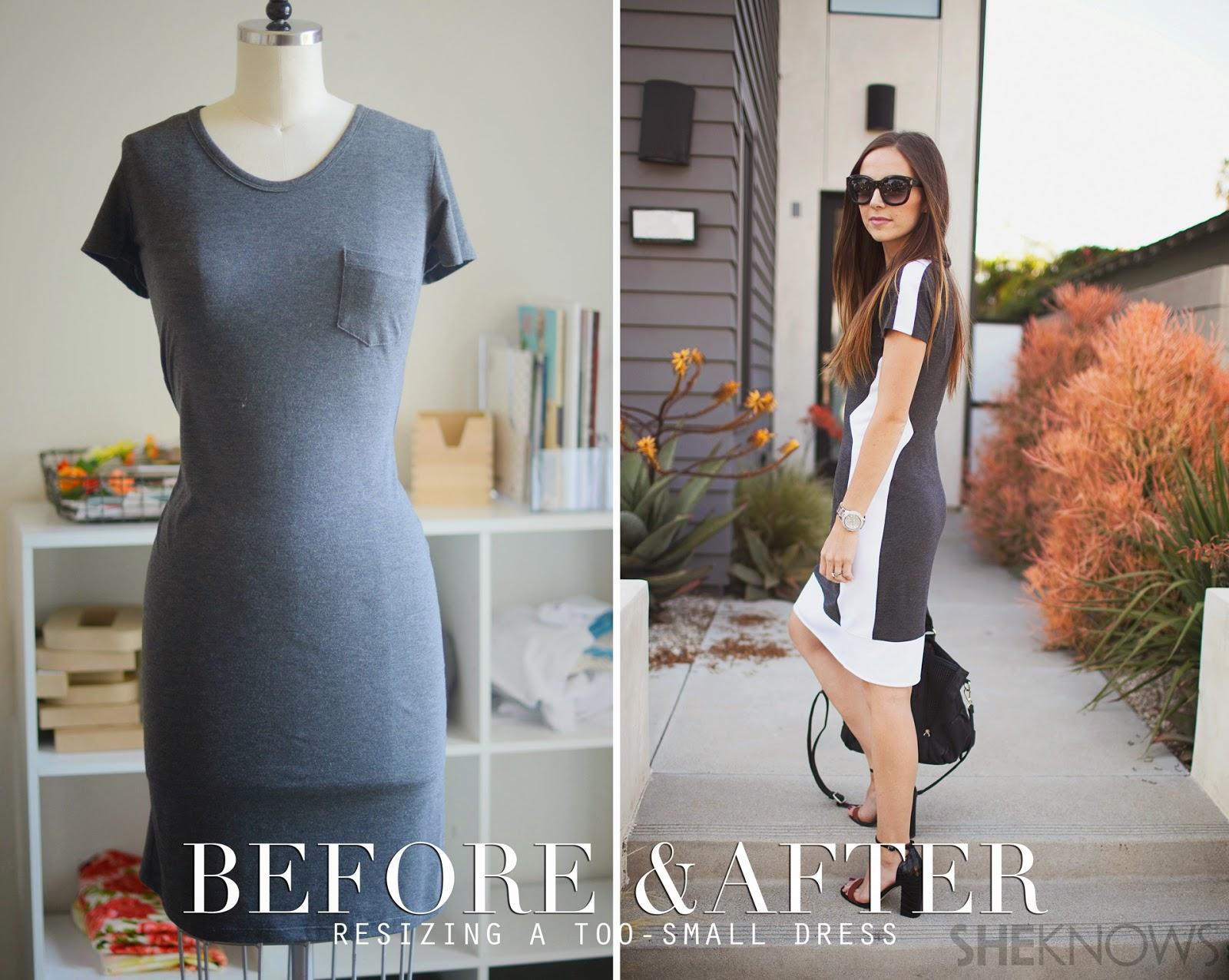 DIY cómo agrandar un vestido que se ha quedado pequeño