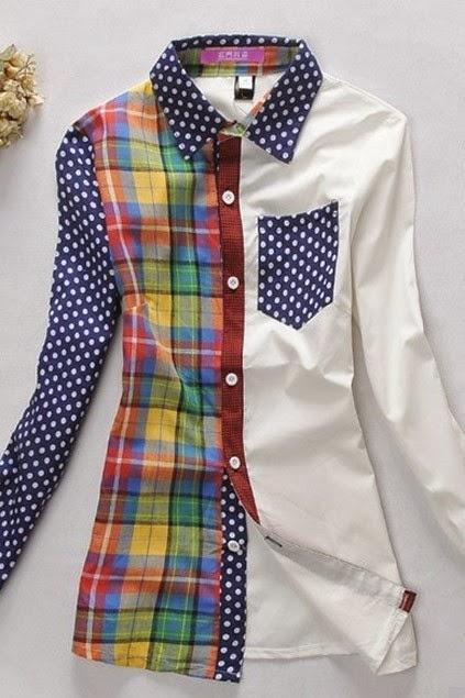 Camisa básica color block
