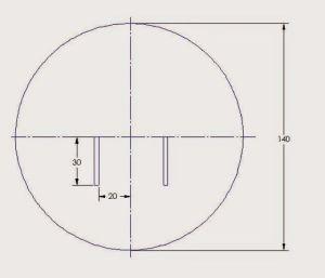 patrón chaleco círculo