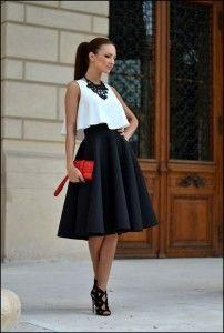 vestido con crop top
