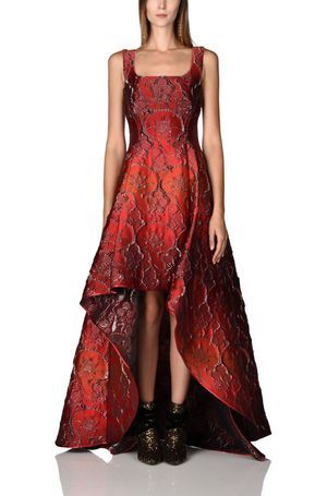 vestido brocado Alberta Ferreti
