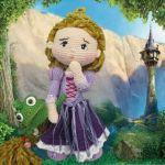 patrón amigurimi princesa rapunzel