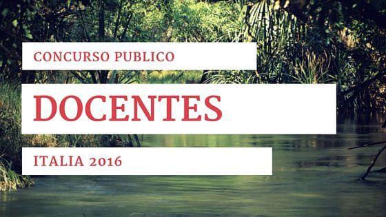 Italia Concurso publico docentes