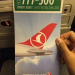Folleto de seguridad de Turkish Airlines