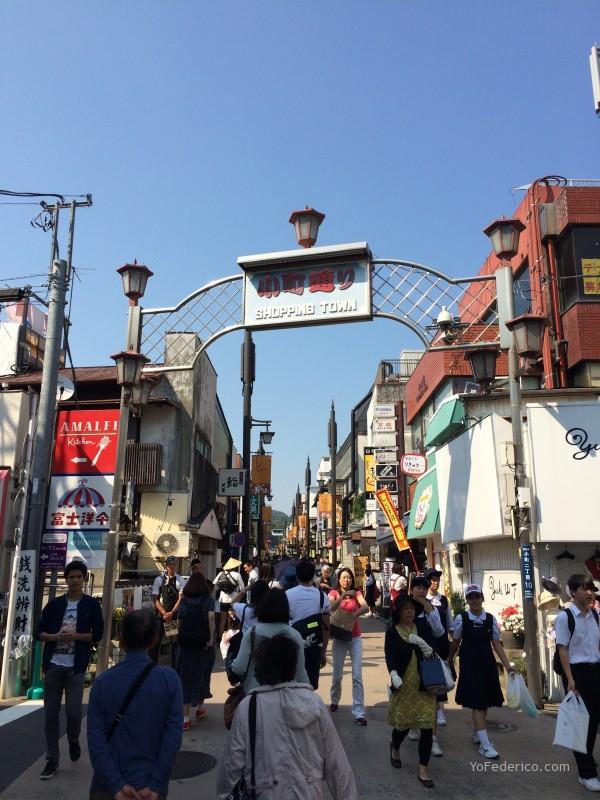 Calle comercial de Kamakura, Japón