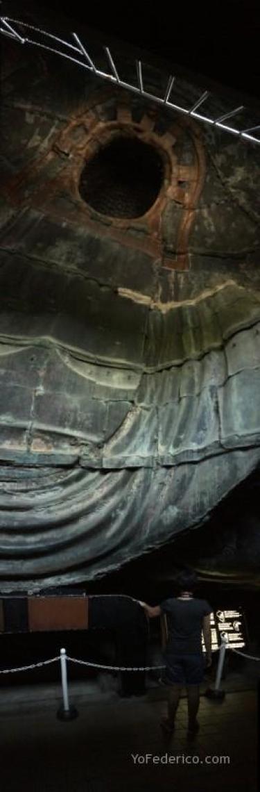 Interior del Gran Buda de Kamakura, Japón