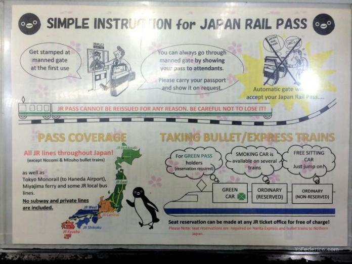 Señalética en inglés en las estaciones de trenes de Japón