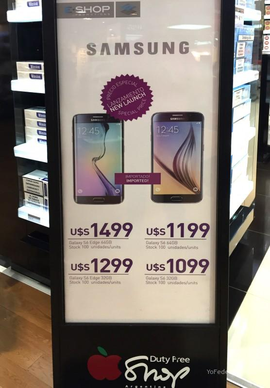 Smartphone Samsung en Duty Free Shop de Ezeiza