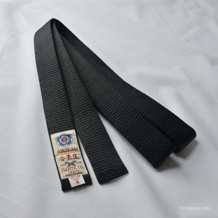 cinturon negro aikido-black-belt-iwata-kuro-obi-shusu