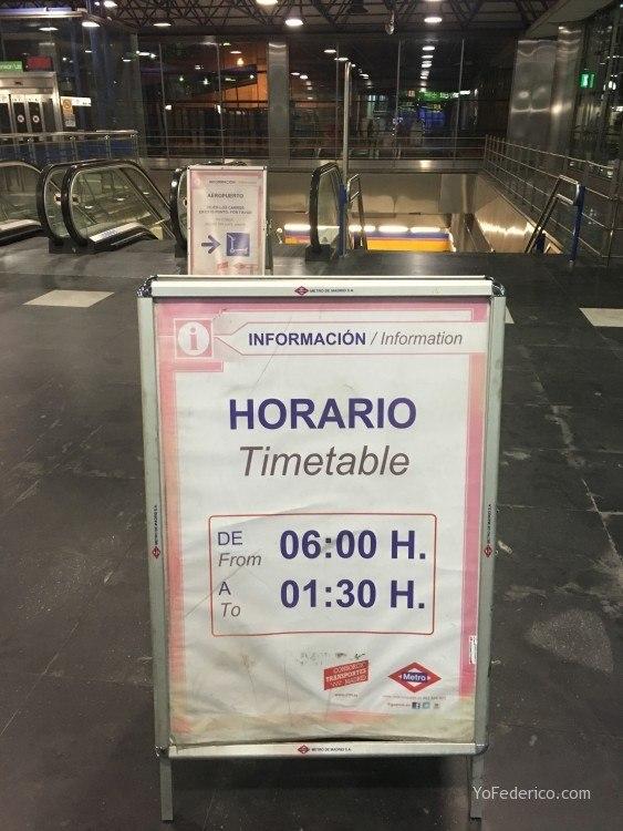 Cómo ir en Metro desde el Aeropuerto de Barajas a Madrid 2