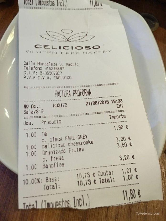 Celicioso, comer súper rico y sin gluten en Madrid 12