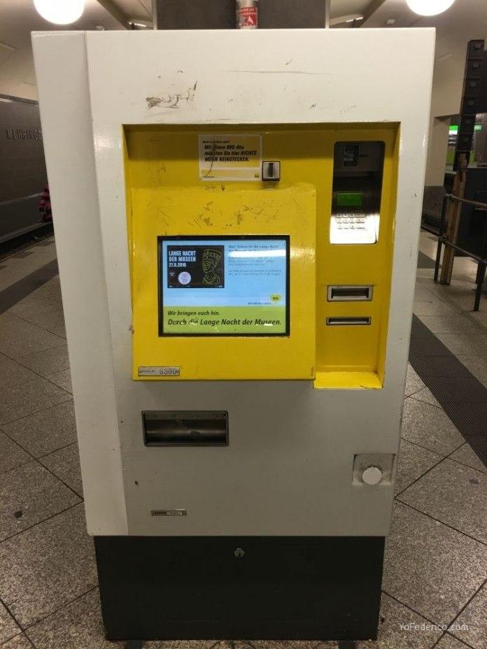 Comprar un pasaje en el Metro de Berlín 5