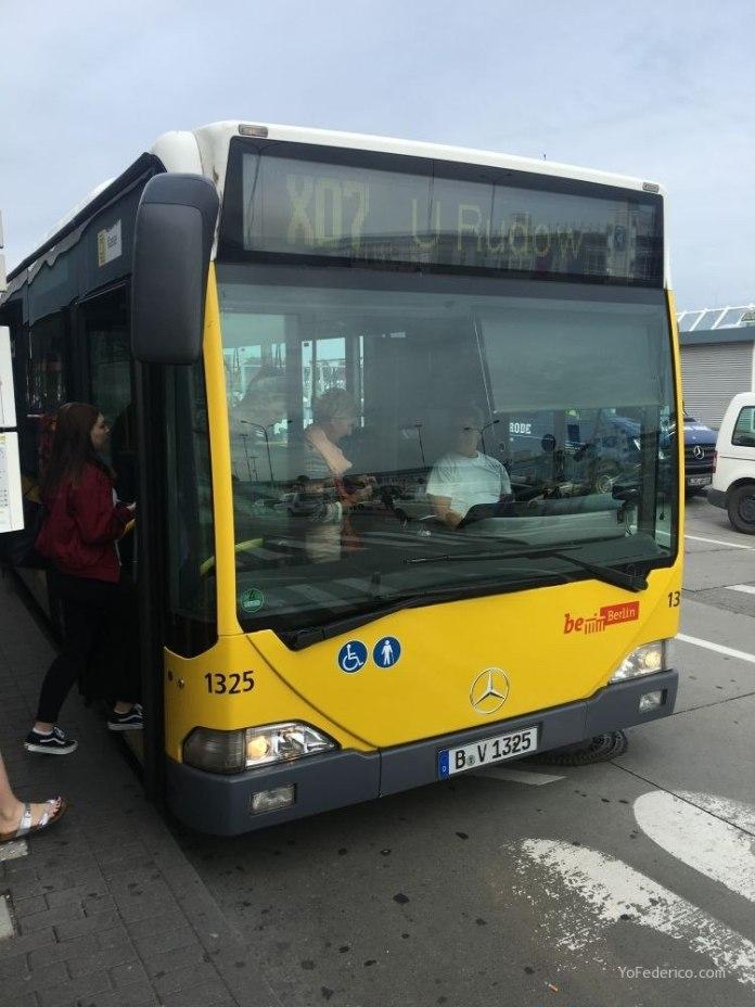 Transporte público desde el aeropuerto Schönefeld hasta la ciudad de Berlín 8