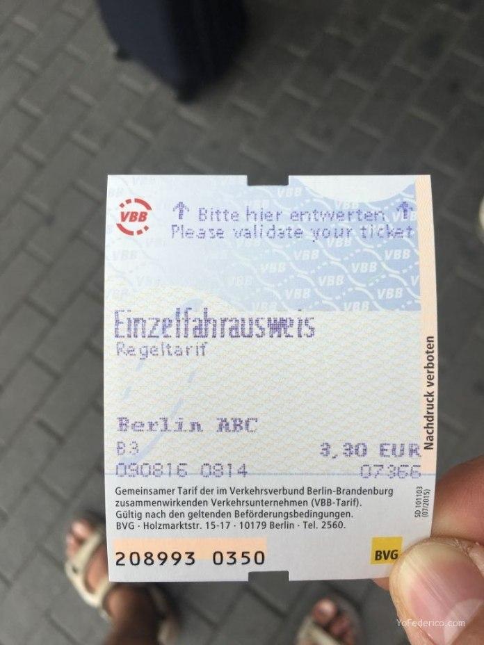 Transporte público desde el aeropuerto Schönefeld hasta la ciudad de Berlín 9