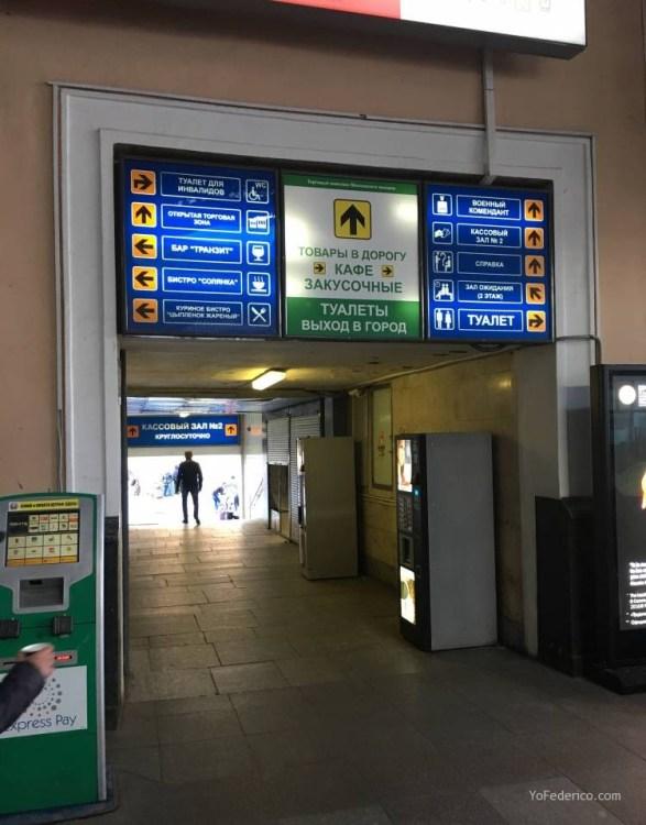 Comprando pasajes de tren en San Petersburgo para ir a Moscú 4