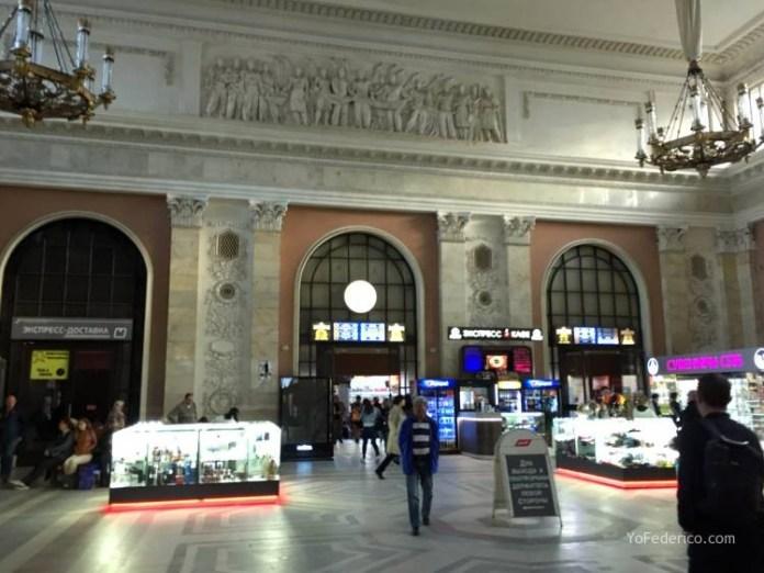 Comprando pasajes de tren en San Petersburgo para ir a Moscú 7