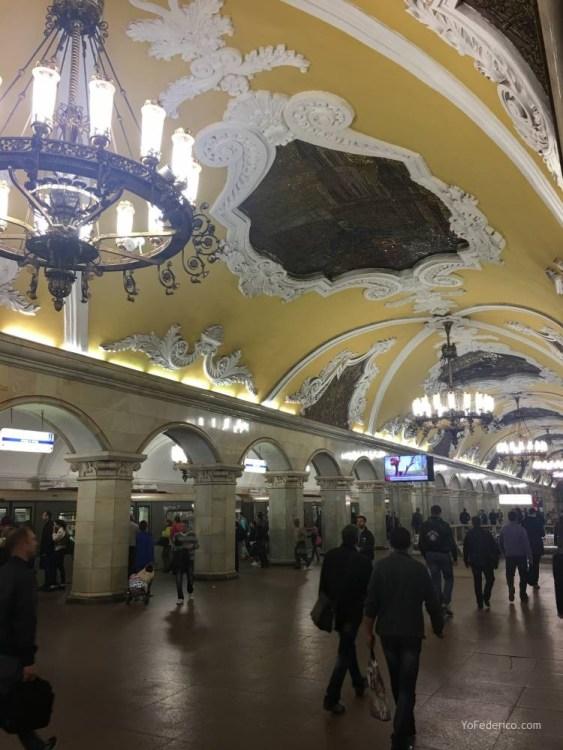 Metro desde la estación de Moscú al centro 7