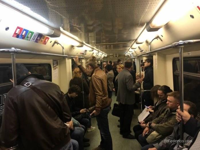 Metro desde la estación de Moscú al centro 9