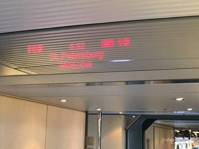 Viaje en tren bala desde San Petersburgo a Moscú 8
