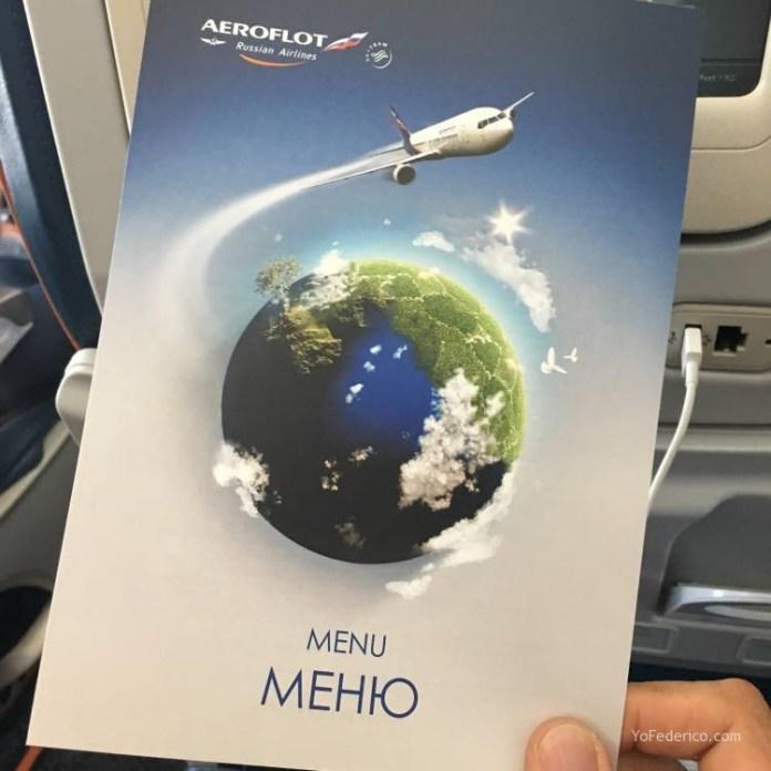 Vuelo Moscú - Londres en Aeroflot 8