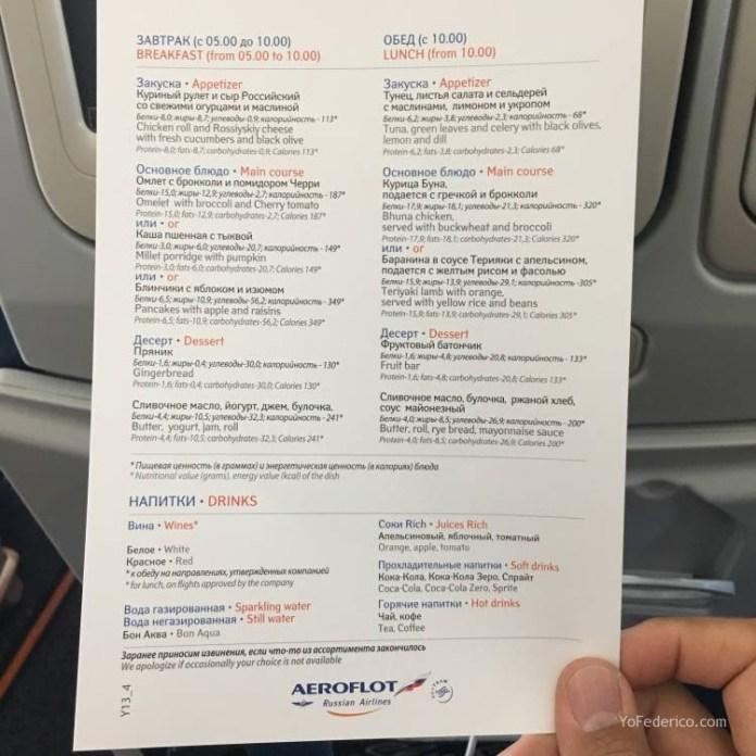 Vuelo Moscú - Londres en Aeroflot 9