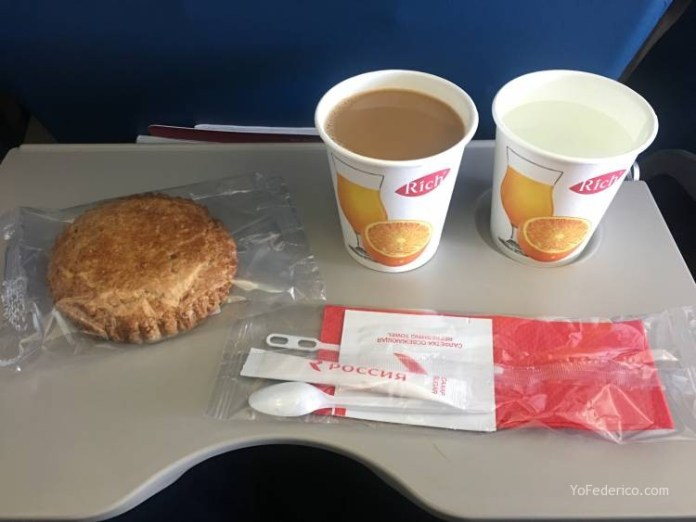 Vuelo desde Praga a San Petersburgo en Aeroflot 7