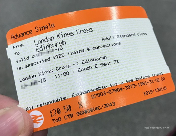 Cómo viajar en tren directo desde Londres a Edimburgo 4