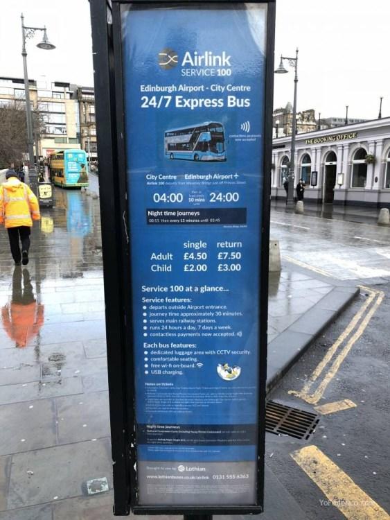 El Bus de Edimburgo que conecta la ciudad con el Aeropuerto 2