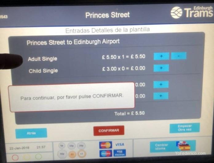 El Bus de Edimburgo que conecta la ciudad con el Aeropuerto 8