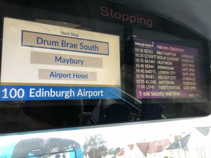 El Bus de Edimburgo que conecta la ciudad con el Aeropuerto 22
